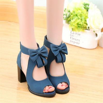 Gladiator High Heels Bow Female Sandals