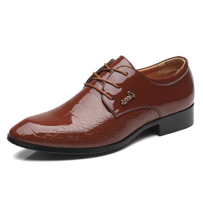 LAISUMK Men Dress Shoes Genuine Leather Men's Oxford Shoes