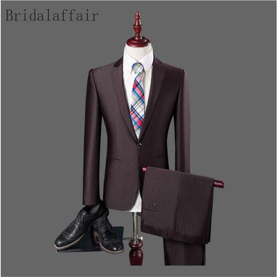 Latest Coat Pant Designs High Quality Suit Men 2 Piece Formal Blazer