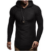 Solid Color Sweatshirt Hip Hop Autumn Winter Hoodie Pullover XXXL