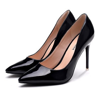 Patent Leather Sexy High Heels for Women's Pumps