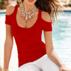Summer Europe sexy off shoulder top Casual Blouse Clothing Plus Size