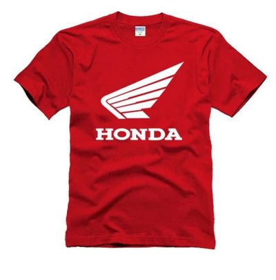 Short-T Men'S Cotton T Shirt Honda Style Printing T-Shirt For Motorcycle Fans