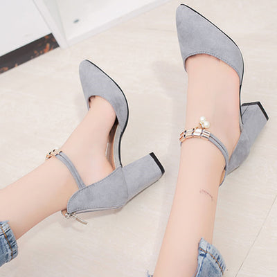 Women Shoes Pointed Toe Pumps Dress Shoes High Heels Boat Shoes