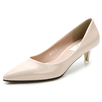 Pumps 5cm sheepskin low heels pointed toe comfortable low heel