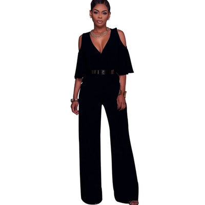 Off shoulder sexy jumpsuits rompers Elegant Ladies plus size overalls