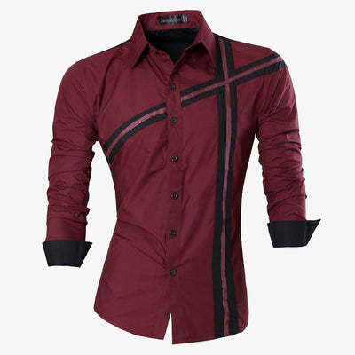 Casual Jeans Shirt New Arrival Long Sleeve Casual Slim Fit Male Shirts Z006