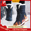 Snow Waterproof Non-slip Winter Boots Thick Fur Platform Waterproof and Warm Shoes Plus Size 31-42