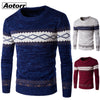 Round Neck Pullover Slim Fit Knitted Sweaters Fall Knitwear