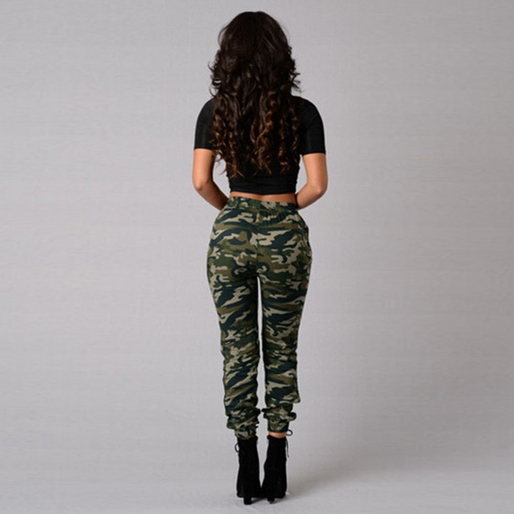 purchase newest shop for newest hot products Camouflage Pants Joggers Women Sweatpants Print Elastic Waist Plus Size  S-5XL