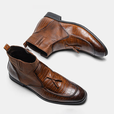 Comfortable Leather Spring Casual WOOTTEN Brand Men Dress shoes #DM5281C1