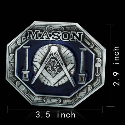 Metal Clip Buckle DIY Leather Craft Freemason Masonic Jeans Accessories For 3.8cm-3.9cm Wide Belt