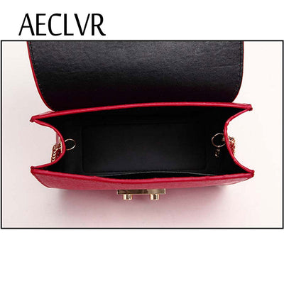 AECLVR Small Women Bags PU leather Messenger Bag