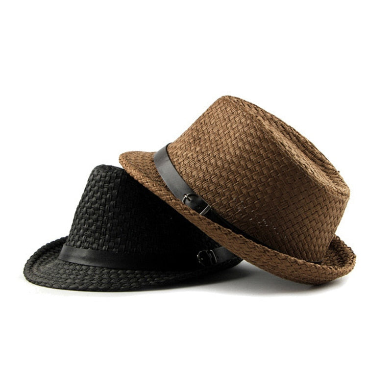 7ada355c5 [AETRENDS] Summer Jazz Cap Beach Straw Fedora for Men Fedoras Panama Hat