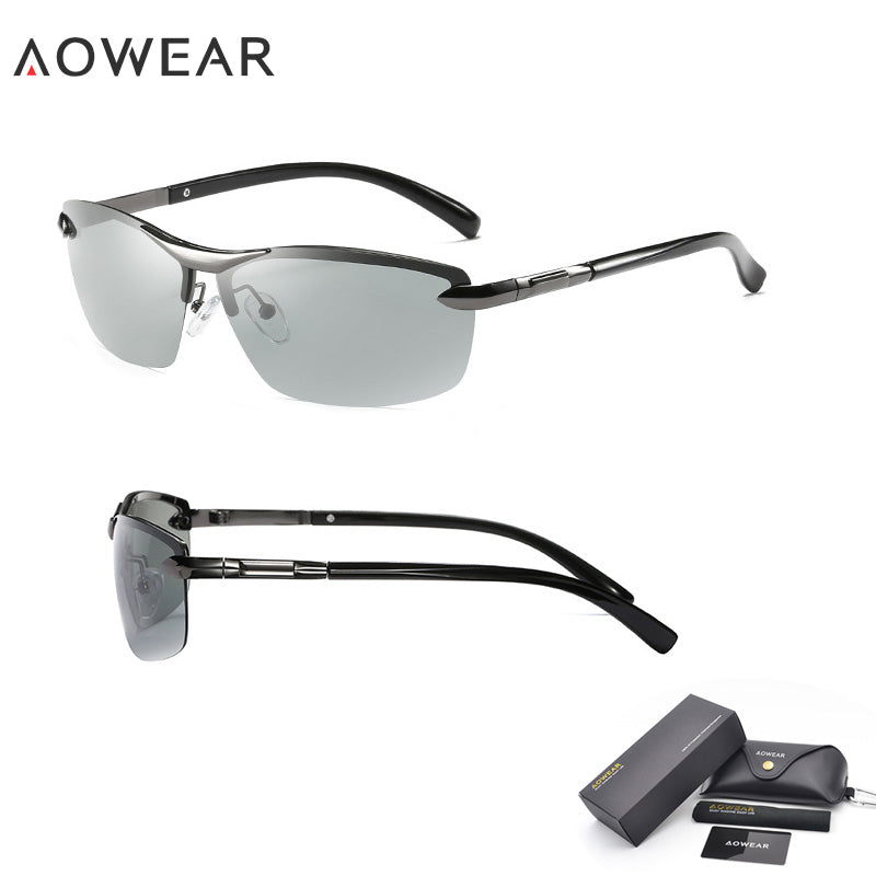 8325746ec26 AOWEAR Driving Polarized Photochromic Sunglasses - Live a Classic Styles