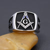 Ancient Freemasonry Bule Color Symbol Master Mason Masonic Sterling Silver Ring