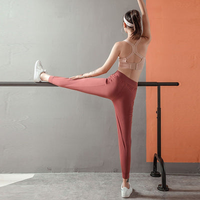 Autumn Sports Velvet Warm Soft Solid Drawstring Elastic Waist Sweatpants