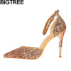 BIGTREE woman metallic high heel stiletto