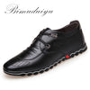 BIMUDUIYU Super Fiber Leather Soft  Comfortable Men's Casual Shoes