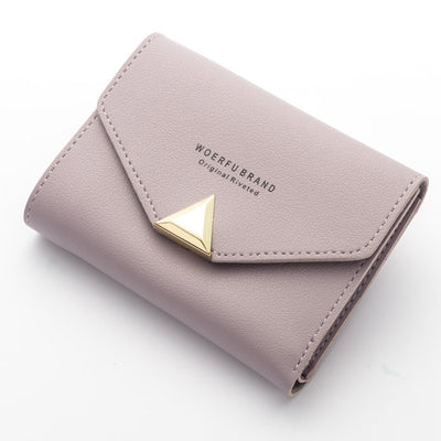 Baellerry Ladies Purse Top Leather Mini Envelope Wallet