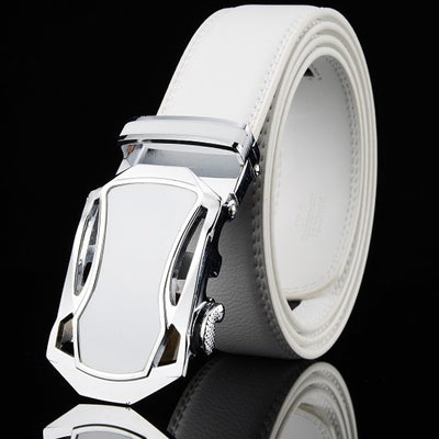 LEFT ROM Automatic Buckle Men & Women Fashion Business Casual Top White