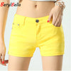 BerylBella Summer Elastic Waist Elegant Cotton Shorts For Women Plus Size