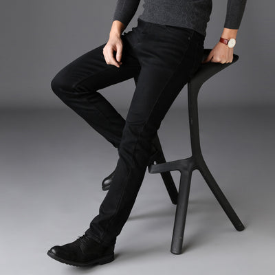 Black Jeans Men Stretch Denim Jeans