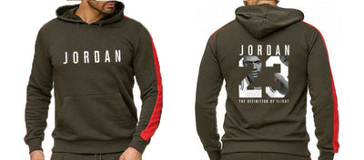 Brand Clothing Men's Fashion Tracksuit Casual Sportsuit Men Hoodies Sweatshirts Sportswear JORDAN 23 Coat+Pant Men Set 1