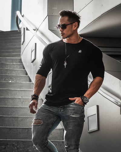 Men fashion t shirt Tops Leisure
