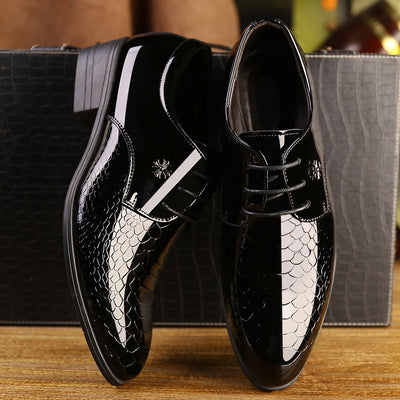 Breathable Pointed Toe Decent Elegant Formal Men Dress Shoes