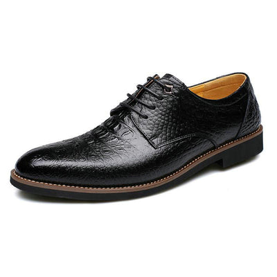 CPI Fashion design Business men's dress leather shoe Crocodile stripes