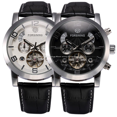 Classic Auto Mechanical Watch Tour billion Stainless Steel Case