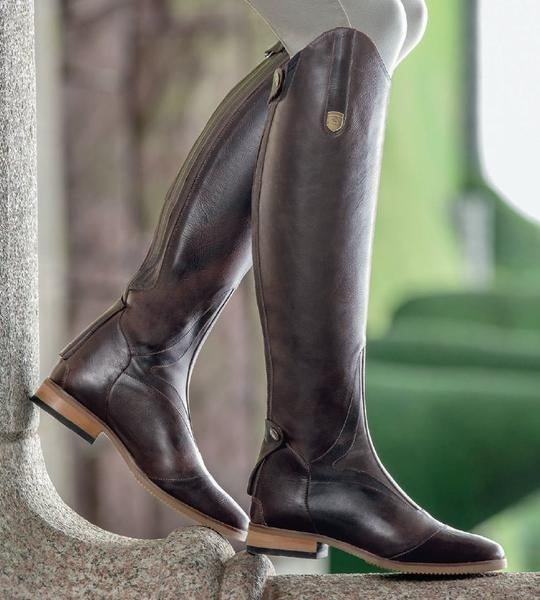 big selection world-wide free shipping autumn shoes Cool Horse Riding Smooth Leather Knee High Autumn Winter Warm High Mountain  Riding Boots