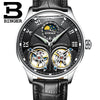 Double Tourbillon Switzerland Watches BINGER Men's Automatic Watch Self-Wind