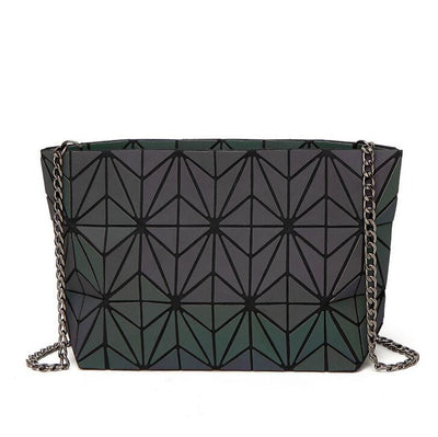 Luminous geometry lattic totes bag High Quilted Chain Shoulder Bags