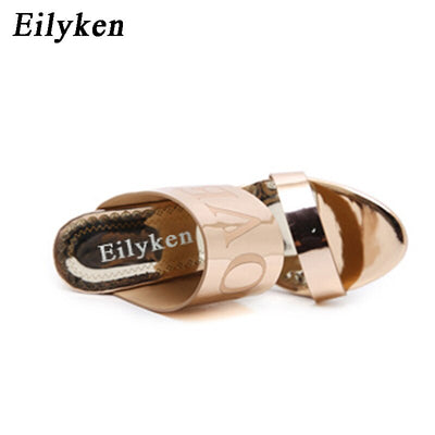 Eilyken Gladiator Sandals Women Crystal Square heel Sandals Party Shoes size 34-40
