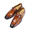 FELIX CHU Elegant Handmade Real Leather Man Brown Formal Shoes