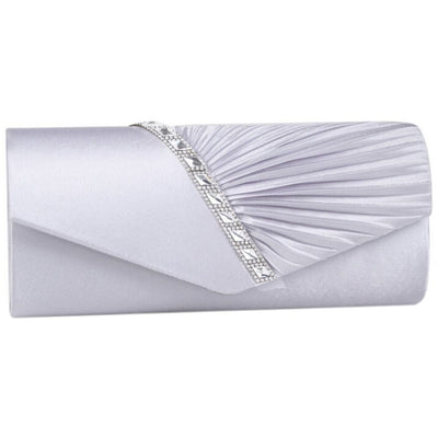 FGGS-Evening Diamond Ruffle Banquet Glitter Bag For ladies Clutches Handbag Chain Shoulder Bag Bolsas