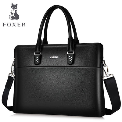 FOXER Genuine Leather Briefcases Laptop for men Tote Bag for Women Messenger
