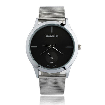 Fashion Alloy Belt Mesh Watch Unisex women's watches