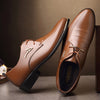 Fashion Dress Shoes Pointed Toe Business Casual Shoes Brown Black Leather