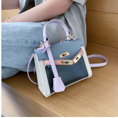 Simple style cover cross body PU leather vintage messenger shoulder bag