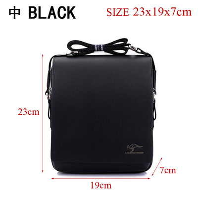 Authentic brand composite leather bag casual male shoulder briefcase