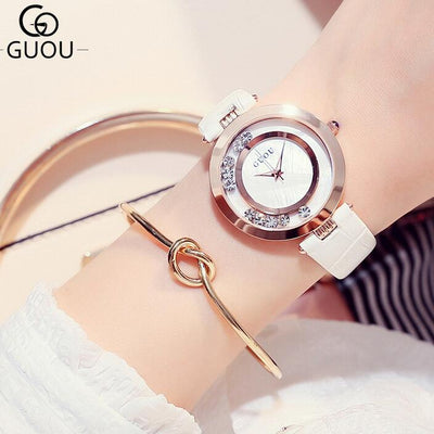 GUOU Watch Luxury Glitter Diamond Ladies Watch