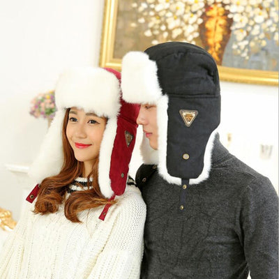 9a40969e5e7 HT533 Classic Solid Winter Men Women Unisex Ear flap Russian Fur Hat Bomber
