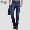 HappyBike Skinny Classic Slim Fit Straight Denim Trousers
