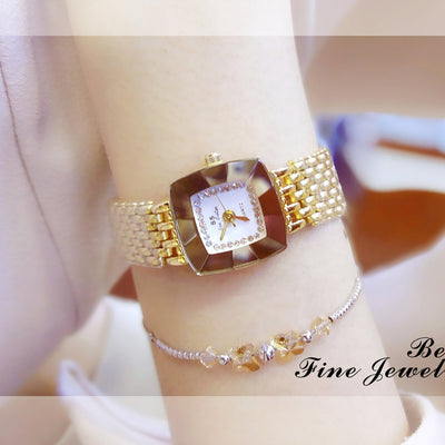 High Quality new hot waterproof square diamond Dial top brand luxury ladies watch