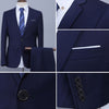 (Jacket+Pant+Tie) Luxury Men Wedding Suit Male Blazers Slim Fit Suits For Men Business