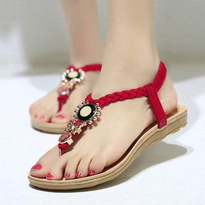 LAKESHI Ankle-Strap Flats Sandals Shoes