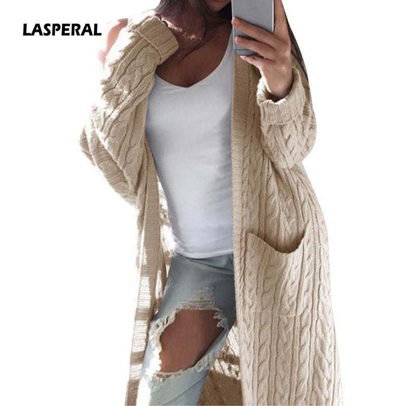 25605ece0ce095 LASPERAL Long Sleeve Warm Knitted Cardigans Autumn Winter Sweaters ...